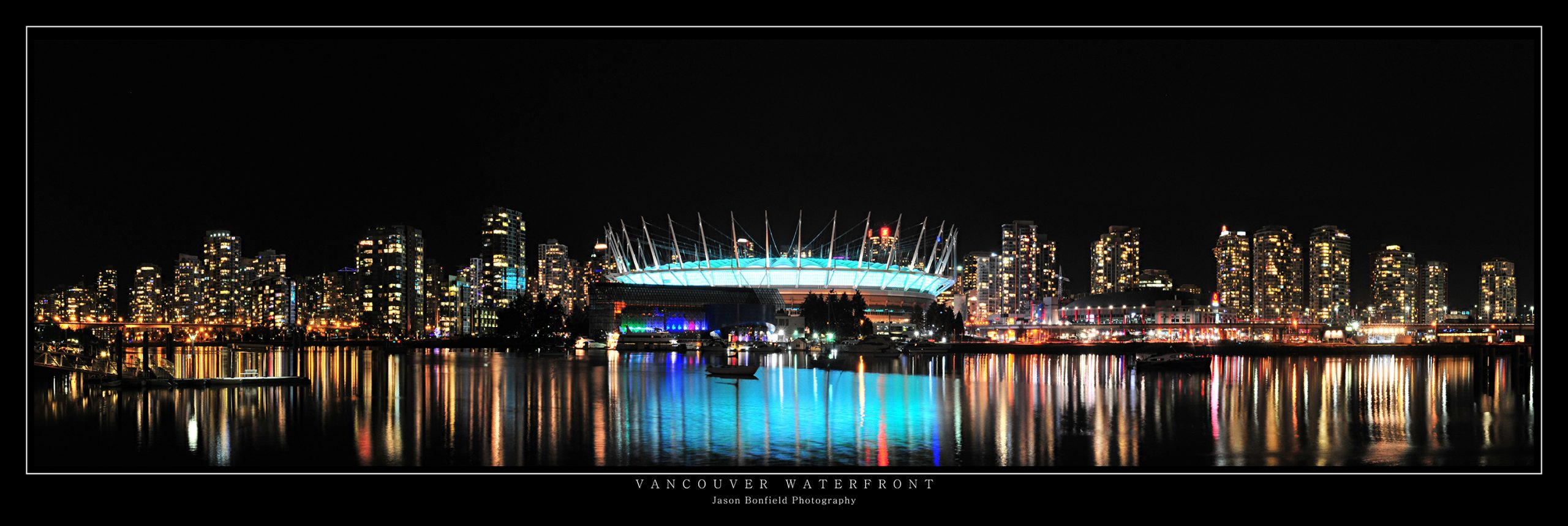 Vancouver City Waterfront at Night